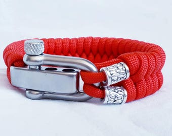 Paracord Bracelet simply red