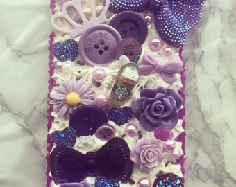 Pretty All that Glitters Decoden iPhone case ( iPhone 8 plus & iPhone 7 plus)