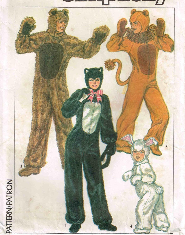 Erwachsenen Bär, Löwe, Katze, Kaninchen Halloween Kostüm Overall ...