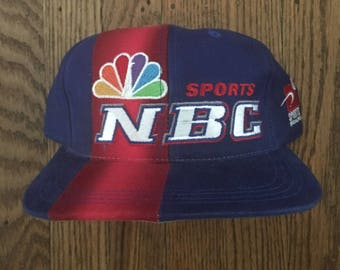 Vintage 90s Deadstock NBC Sports Sports Specialties Snapback Hat Baseball Cap