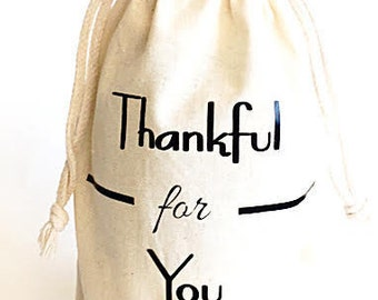 Wine gift bag - Gift bags - Thankful for you wine Bag - Thank you gift - Hostess gift - Host gift