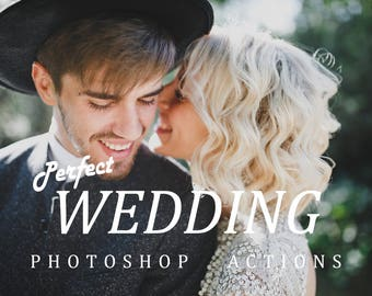 Photoshop perfect wedding actions presets