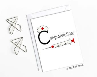 Nurse Graduation Card Nursing Grad Friendship Congratulations Friend Congrats