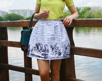 Gorgeous Alice In Wonderland Dressing Up skirt/Cheshire Cat/Skirt/A Mad Tea-Party/The Queen's Croquet-Ground/Cosplay/Kawaii
