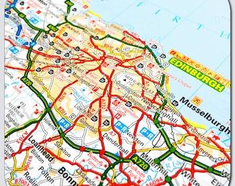 Edinburgh Map Coasters