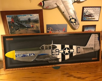 Aviation gifts P-51 Mustang Aviation Art Sculpture