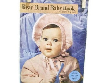 Vintage Knitting For Babies Booklet | Bear Brand Baby Book