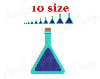 Poison bottle Embroidery Design. Bottle Silhouette. Mini Poison. Machine Embroidery. Medical bottle. Halloween bottle. Bottle of Perfume.