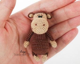 PATTERN Monkey, amigurumi crochet, crochet monkey pattern, amigurumi PDF pattern, monkey pattern, Instant download
