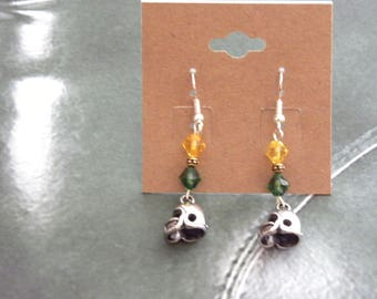 Football Earrings (Made with Swarovski Crystals)