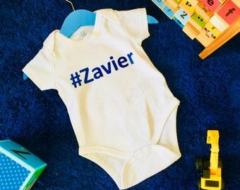 Personalised Hashtag Babygrow