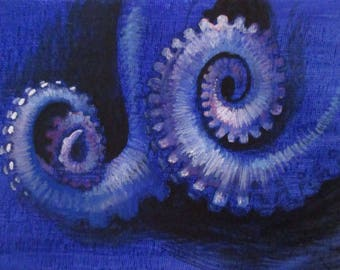 Tentacles II - original daily painting by Kellie Marian Hill