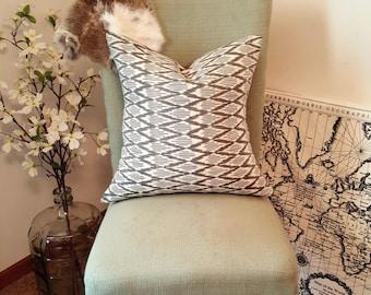 Grey Chevron Ikat Pillow