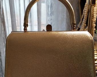 Vintage gold ladies handbag