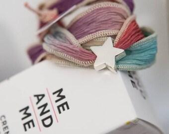 Pulsera de cordón de Seda con Estrella de Plata de México
