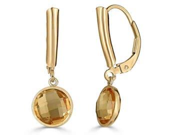 Citrine Earrings, Genuine Citrine Earrings Gold, November Birthstone Earrings, Citrine Jewelry, Mothers Day Gift, Birthday Gift, Sada Jewels
