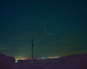 Night Valley, Photography, Night Photography, Landscape, Rural, Stars, Roads, Fine Art Photography