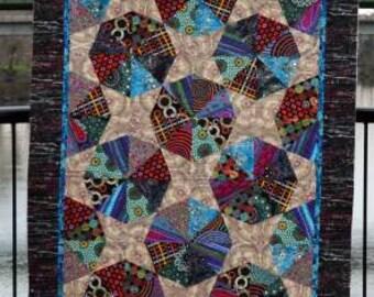 Junk Jewelry Quilt Pattern - Saginaw St Quilts #SSQ424 - Spider Web Block Quilt Pattern - Scrap Friendly Quilt Pattern