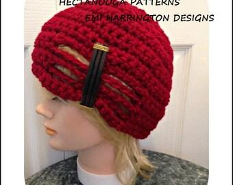 crochet hat pattern, FLAPPER HAT, crochet hat, crochet patterns, child, teen, women, #2141