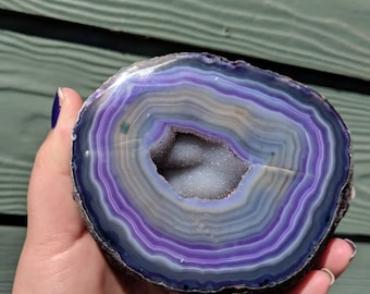 Self Standing Dyed Agate Geode