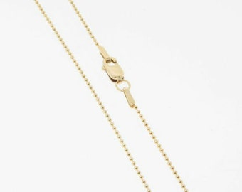 18 Inch - Gold Filled 1mm Ball Chain Necklace