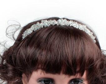 Wedding Headdress, Wedding Alice Band, Bridal Headdresses, Flower Girls Headdress,  Bridesmaid Headdress, Brides Headdress
