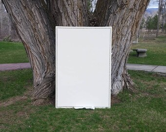 EXTRA LARGE Cream Colored Home Decor Fabric Covered Large 36 x 54 in. Cork Board - Large Pin Board - Ivory Bulletin Board