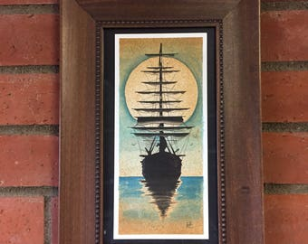 Sailboat watercolor original