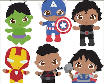 Superhero Babies Clipart -Personal and Limited Commercial Use- Super Heroes Baby Clip art