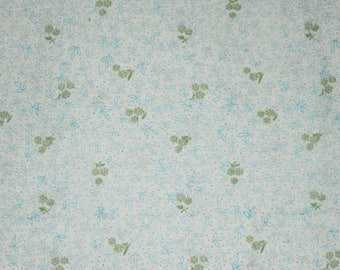 Quilting Fabric,Turquios, Green, Blue, Flower Fabric