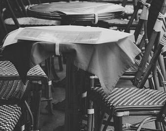 Paulette - Paris France Landscape Cafe Photography Art Print