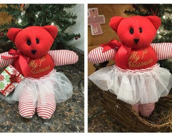 First Christmas Memory Bear
