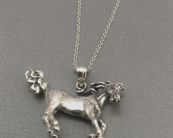 Egyptian Princess Arabian Horse Necklace in Sterling Silver, Horse Jewelry, Equestrian Jewelry.