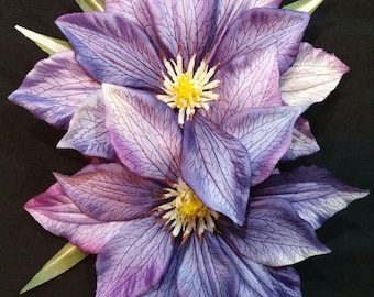 Stunning purple double tropical pinup hair flower. Great for Viva pool party or Tiki Oasis!