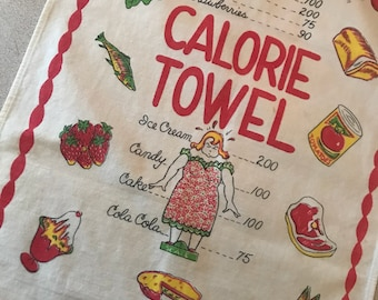 Counting Calories?? We've Got you Covered with this Darling Vintage Kitchen Towel