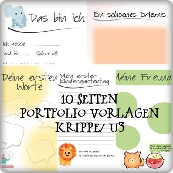 Portfolio Vorlagen für Krippe / U3