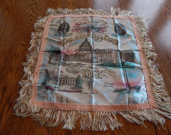 Washington D.C. Vintage Silk Pillowcase George Washington Franklin Roosevelt