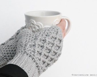 CROCHET PATTERN - Lattice Work Fingerless Mitts - Instant Download (PDF)