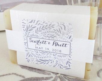 24 Custom Handmade Soap Wedding Favors Botanical Collection
