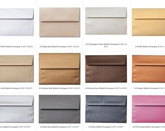 "Sample A-9 Metallic Envelopes (5 1/4"" x 7 1/4"") (25 Envelopes)"