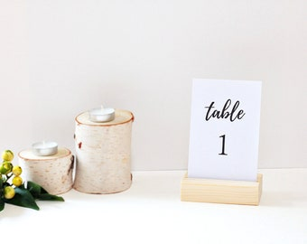 Rustic table Number holder / Natural Wooden Card Holders / Table menu Stands / Reception / Wedding deocr / Sign holders / Menu holders
