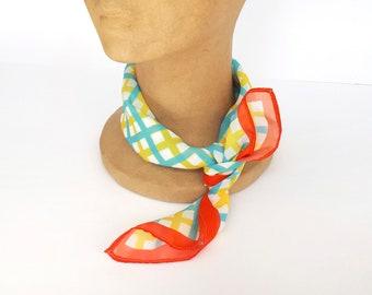 Sheer scarf, Sheer chiffon scarf, Bandana, Square chiffon neck scarf for women, Silky scarf by Olula, Sheer neck scarf, Neckerchief