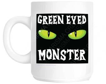 Green Eyed Monster Novelty Fun Mug CH115