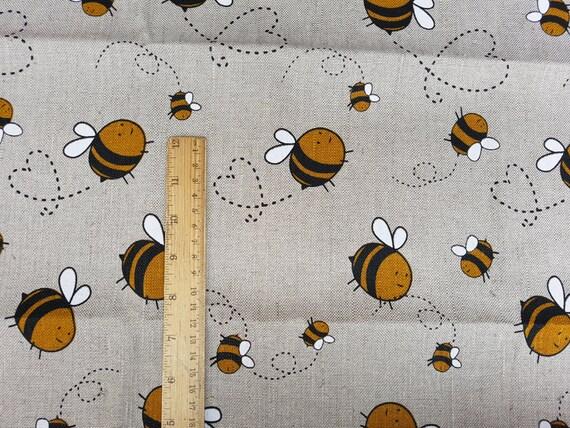 Tissu lin imprimé au mètre tissu en lin avec abeille imprimé