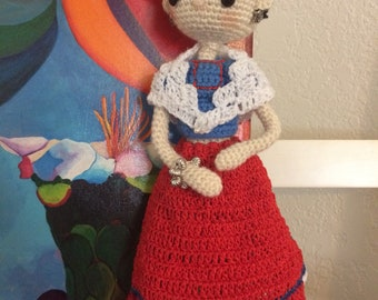 Amigurumi inspired Frida Kahlo doll