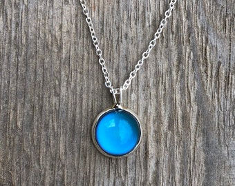 Mood necklace, moodnecklace, moodstone, mood stone, color changing, necklace, gift, present, jewelry, birthday gift, present, valentine