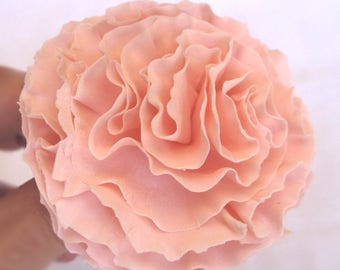 "Carnation - approx. 3"" diameter.  Gum paste flowers cake toppers cake decoration sugar paste"