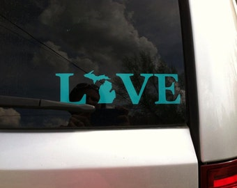 "Love Your State Decal 1.5"" Tall"