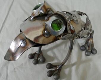 Scrapog - steel frog sculpture