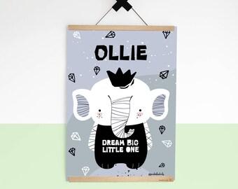 Personalised Art Prints for kids room